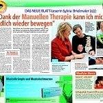 Das neue Blatt 06/2009, Dank der Manuellen Therapie kann ich mich endlich wieder bewegen