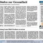 Kölner Stadtanzeiger 09.11.2013, Fünf Stufen zur Gesundheit